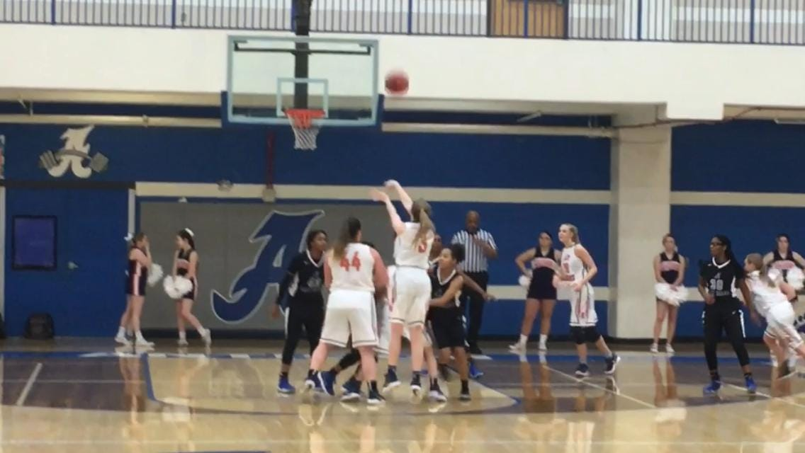 After a slow start, Dickson County rolled by Antioch 52-39 in the first round of the Region 6-AAA girls' basketball tournament at Antioch's gym on Friday, Feb. 23, 2018.