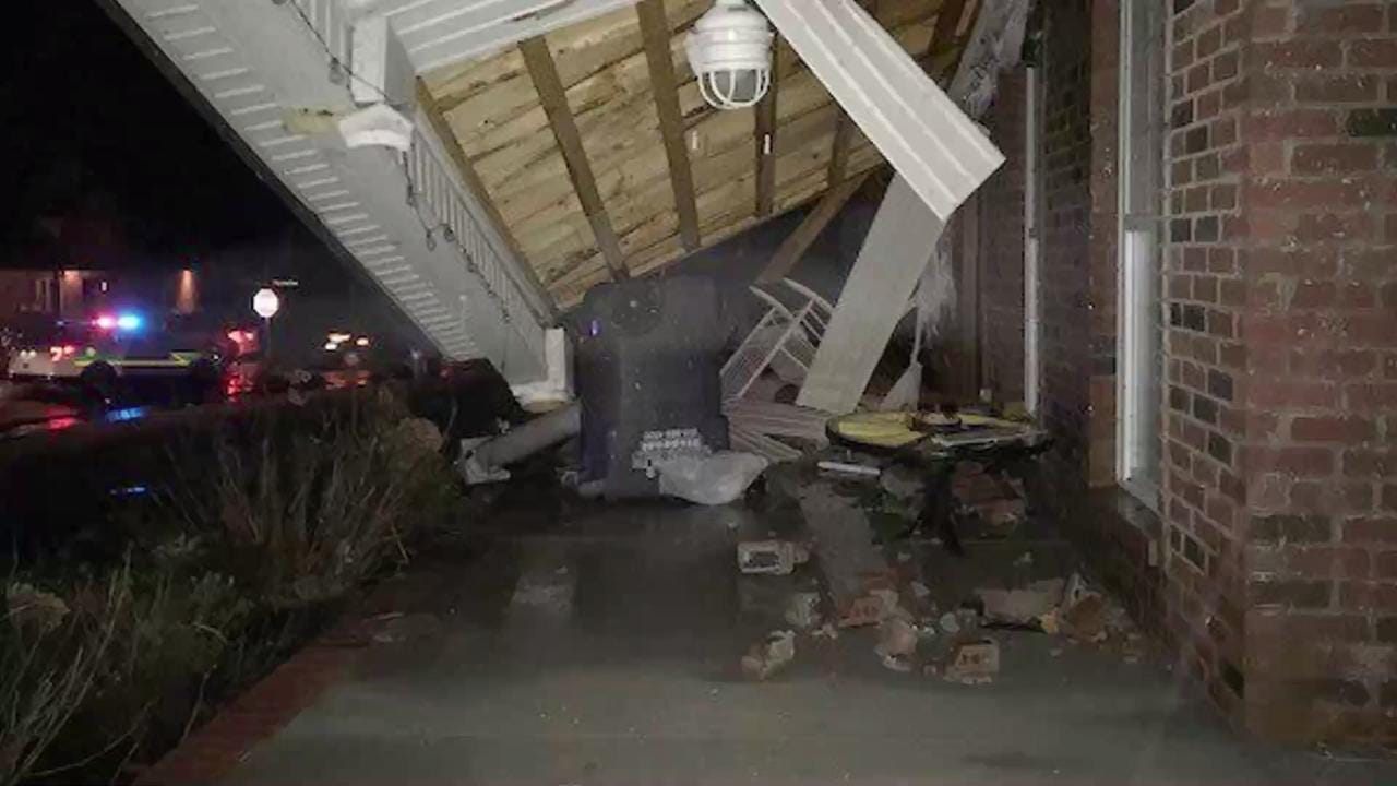 At least three people were injured and several Clarksville-area homes were damaged late Saturday as a fierce storm tore across Middle Tennessee.