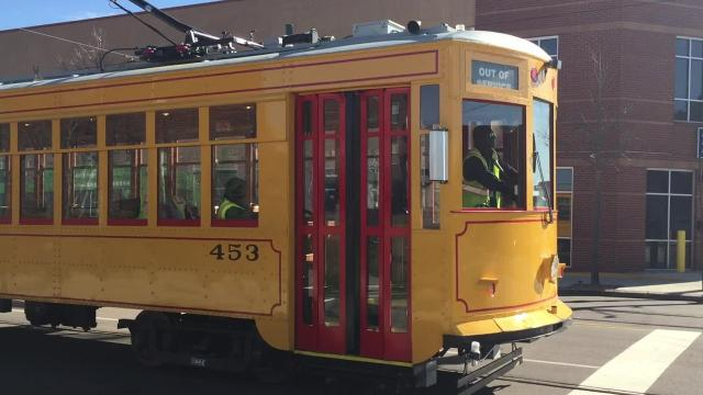 Transit authority trains drivers on vintage trolleys in preparation for Main Street Trolley relaunch, expected in April.