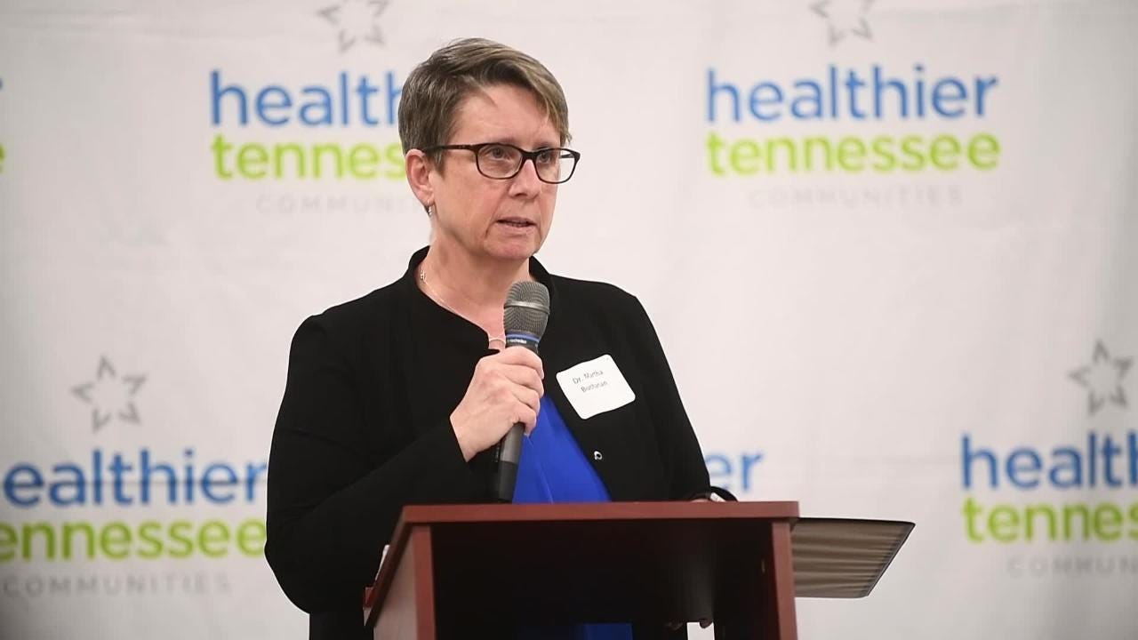 Knox County Health Department's Dr. Martha Buchanan speaks at Knoxville launch event of Healthier Tennessee Neighborhoods
