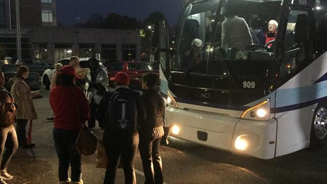 Two buses of Moms Demand Action volunteers leave Memphis for Nashville to address gun issues with legislators.