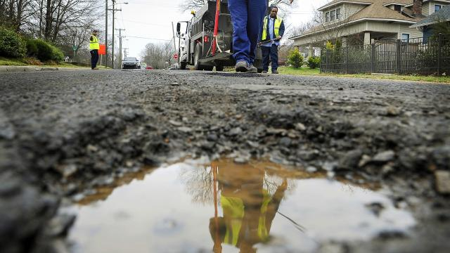 Think there are more potholes that normal this winter? You're right. Nashville has had 80% more potholes to fill this year, according to city data.