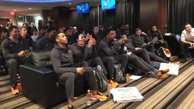 Tennessee celebrates its NCAA Tournament bid