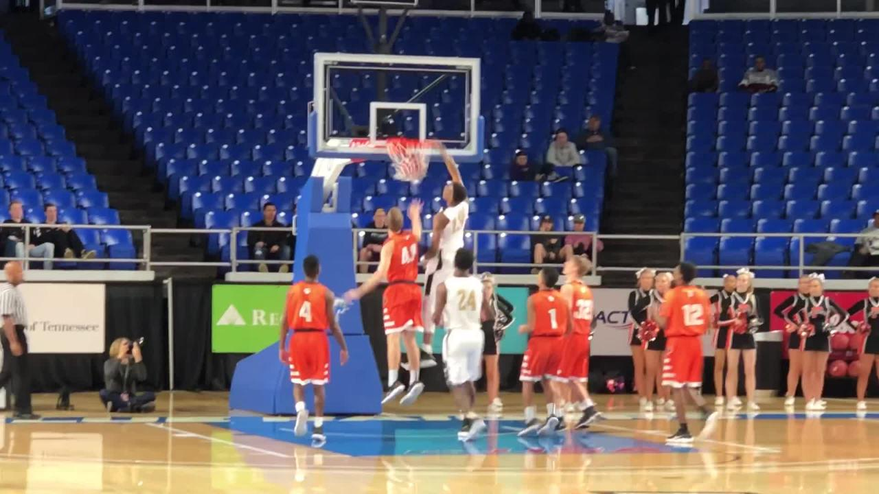Whitehaven's Anthony Whitmore with dunk at Class AAA state tournament