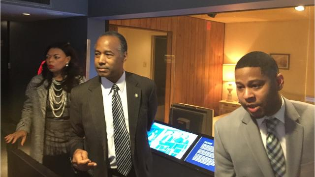 HUD Secretary Ben Carson visited Memphis and National Civil Rights Museum Tuesday to mark 50th anniversary of Fair Housing Act.