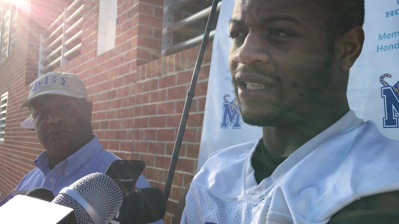 Memphis' Sam Craft updates on his injury progress at end of spring practice.