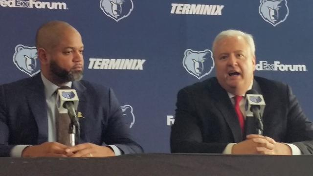 Grizzlies general manager Chris Wallace talks about why J.B. Bickerstaff is their head coach.