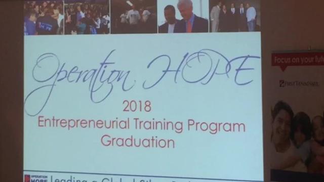 Sixteen entrepreneurs graduate from the latest Operation Hope Entrepreneurial Training Program.