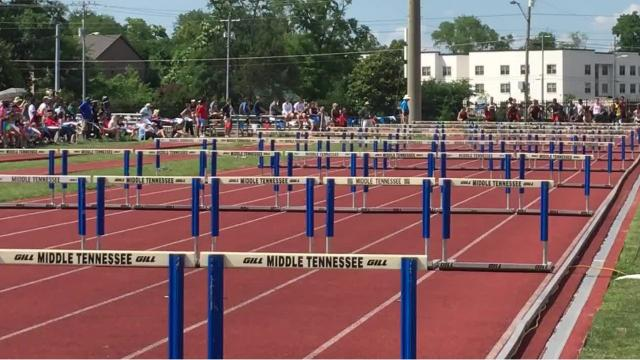 Watch Jordan Braswell of Memphis Central win the 100 meter hurdles and Kirsten Jones win the 100 meter dash on Thursday at Dean A. Hayes Stadium.