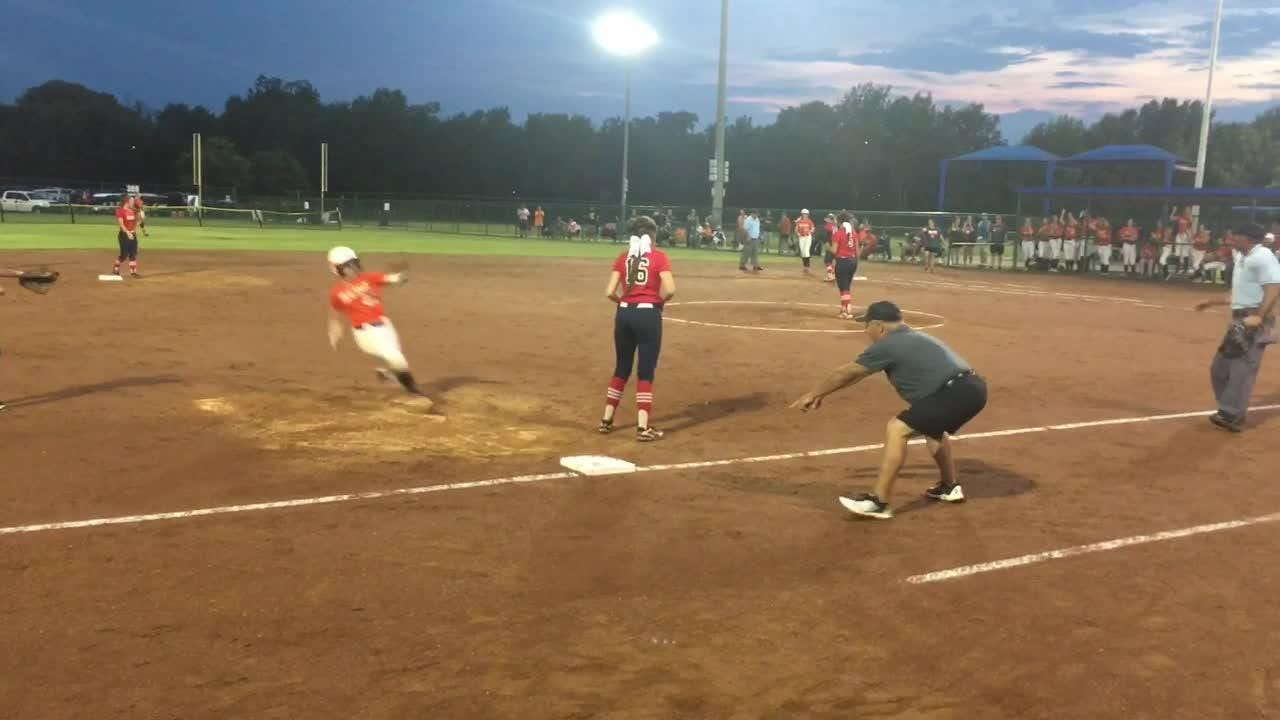 White House Heritage forced a second championship game with Meigs Co. in the double-elimination tournament, but Meigs Co. prevailed to claim the Class AA state softball title in Murfreesboro on Friday, May 25, 2018.