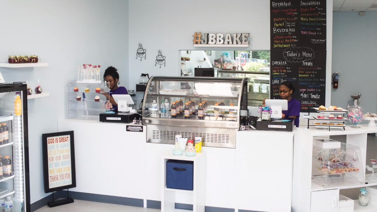 Sisters Courtni Johnson, left, and Jami Harbin fulfilled their dream of opening a business with Jaybear Bake Shop. A grand opening was held May 26.
