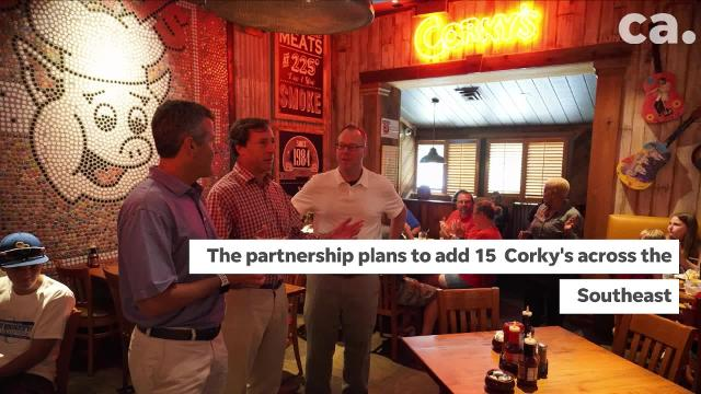 Corky's BBQ diners get a pleasant surprise and an announcement.