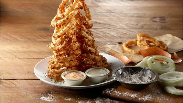 Battered and deep fried onion rings