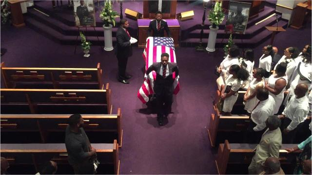 The 25-year-old died during a training exercise in Florida this month. Watch his journey to his final resting place with full military honors, including the playing of Taps.