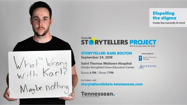 Karl Bolton faced abuse and depression. Now, he wants to become a therapist to help others navigate what he went through. He will share his story on Sept. 24 at the next Nashville Storytellers.