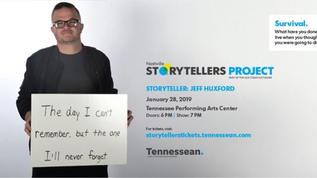 Nashville Storytellers Jeff Huxford on the crash he survived but can't remember