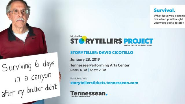 David Cicotello, an instructor at Motlow State Community College, lived for 6 days stranded on a ledge in the unforgiving canyon lands of Utah. He survived. His brother did not.