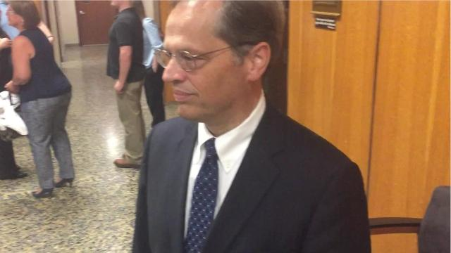 Prosecutor Timothy Prosperi after closing arguments in Rideout trial