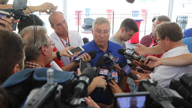 Terry Pegula at Buffalo Bills training camp