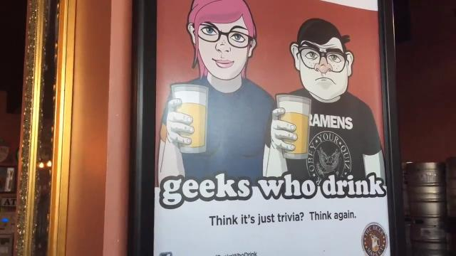 """""""Geeks Who Drink"""" trivia game at The Beer Market  draws a crowd to College Town. (August 2017)"""