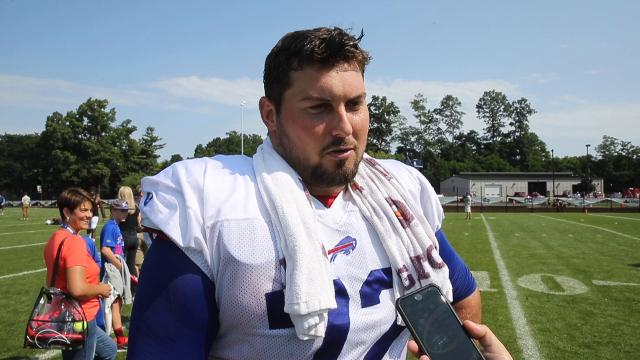 Offensive lineman Groy is settling in at center. (Aug. 7, 2017)