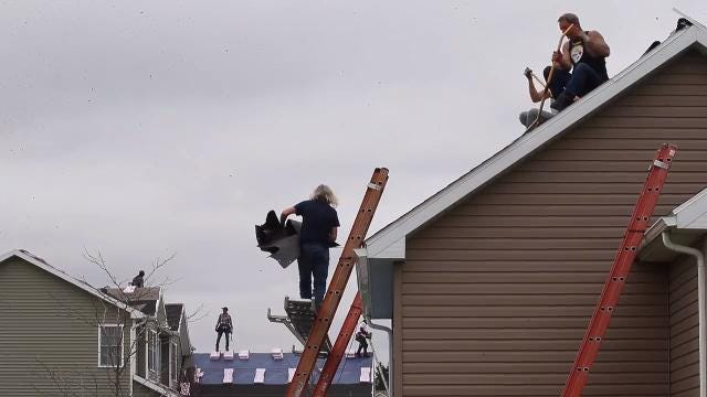 "Homeowners in Henrietta and Chili subdivisions are replacing more and more shingles to homes less than 10 years old. ""It literally looked like someone tore the roofs off,"" said one homeowner."
