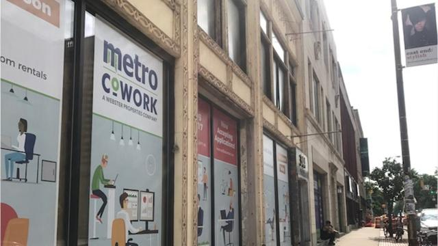 Metro Cowork is planned to include a shared workspace, private offices and conference rooms. New apartments are also in the works.