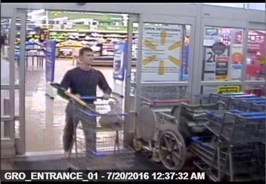 Rideout evidence: Surveillance video from Macedon Walmart,  7-20-16