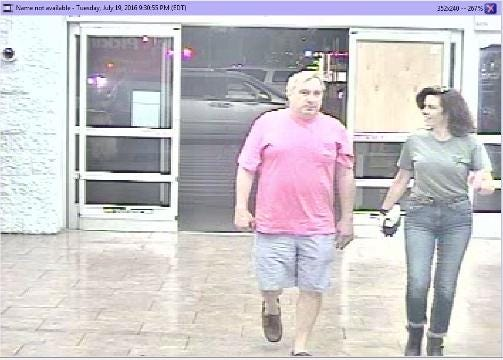 Rideout evidence: Surveillance video from Hudson Avenue Walmart,  7-19-16