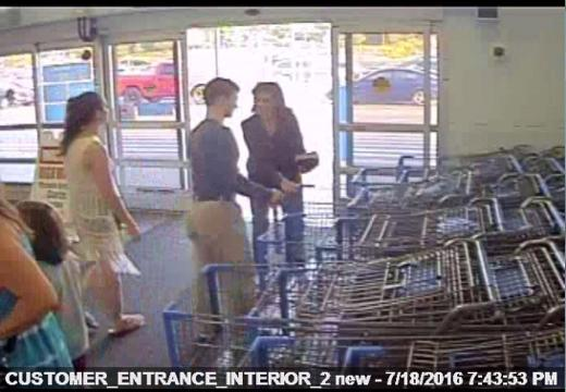 Rideout evidence: Surveillance video from Macedon Walmart, 7-18-16
