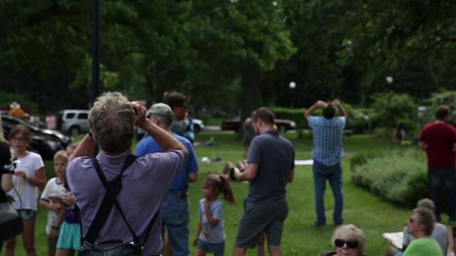 Rochesterians flocked to the Rochester Museum and Science Center, Cobbs Hill and other places around the city to view the 2017 Solar Eclipse. (Aug. 21, 2017)