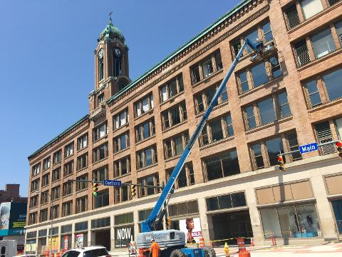 D&C Digital Brian Sharp takes you on a Facebook live tour of parts of the Sibley Square project. (Aug. 22, 2017)