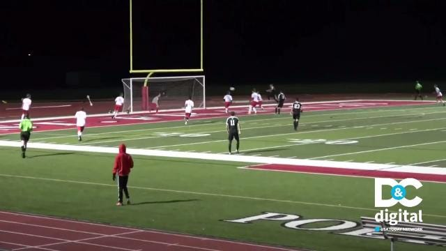 A soccer cross and volley takes Play of the Week