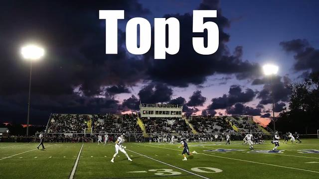 The Top 5 plays this week include Aquinas, Brockport, Rush-Henrietta, Wilson and Webster Schroeder.