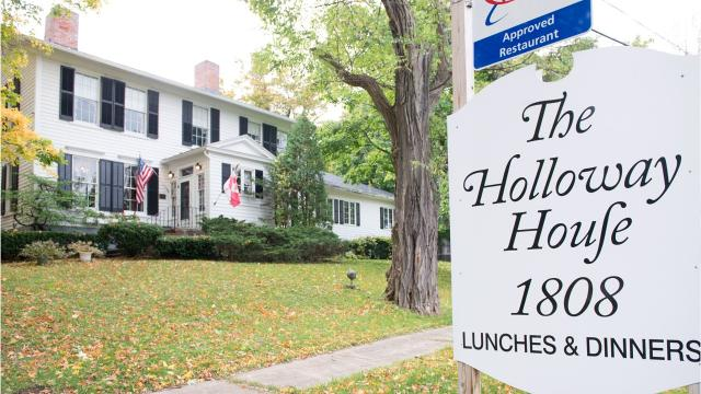 The Holloway House in Bloomfield is like being transported back in time. The restaurant, including the building, is for sale.