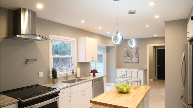 There are clean, modern lines throughout this home flip in Penfield. (Dec. 4, 2017)