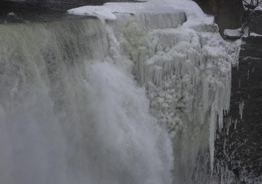 High Falls: Frozen and beautiful