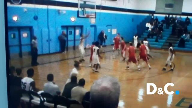 Shykell Brown's pass to Anthony Gray for a one-handed slam dunk is the Varsity Voices Play of the Week. Upload your videos from hockey, wrestling, indoor track, swimming, skiing, bowling and basketball to varsity-voices.com for a chance at $1000!