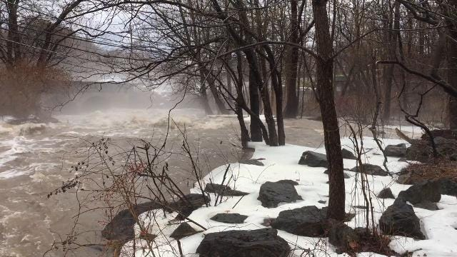 Warm weather and rain create flooding conditions at area creeks and rivers.