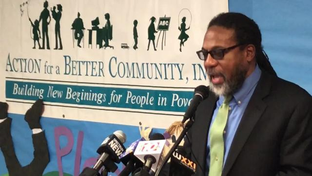 Jerome Underwood speaks at the press conference announcing his appointment as president and CEO of Action for a Better Community on Jan. 12, 2018.