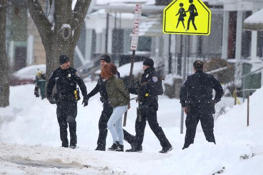 Rochester police responded to 128 Cameron St. for the report of a missing teen. The home  was under investigation for possible weapons, police said. (Jan. 16, 2018)