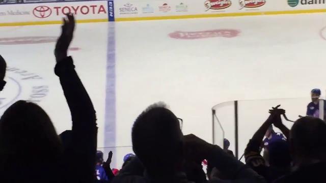 Blue Cross Arena fans go wild as Brian Gionta scores for Amerks