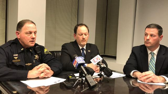 Authorities outline the theft of eight firearms from Chinappi's Firearms and Supplies in Parma earlier this week. (Feb. 9, 2018) =