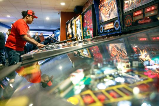 The Upstate New York State Pinball Championships at The Silverball Saloon in East Rochester. (Feb. 10, 2018)