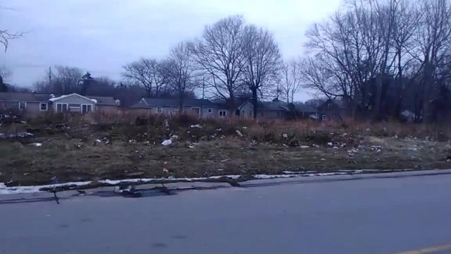 A vacant lot across from Walmart on Dewey Avenue in Greece is trashed. Remember, littering is illegal. (Feb. 19, 2018)