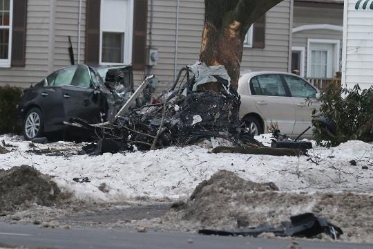 A man died after crashing his car into a tree on Mt. Read Boulevard in Greece.  The one-car crash happened just after midnight. (Feb. 14, 2018)