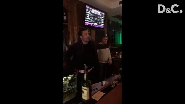 Jimmy Fallon stopped in to celebrate Mulconry's Irish Pub on its 10th anniversary. Video provided by Dave Falcone and Jessica DeBruin. (Feb. 17, 2018)