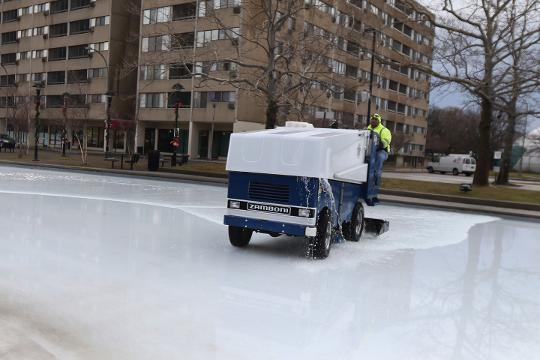 Want to do a winter sport despite the warm weather?  Ice skate at Dr. Martin Luther King Jr. Memorial Park at Manhattan Square where the refrigeration system keeps it an ice rink all season.