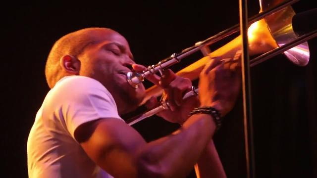 Trombone Shorty plays the final night of the Xerox Rochester International Jazz Festival in 2013.