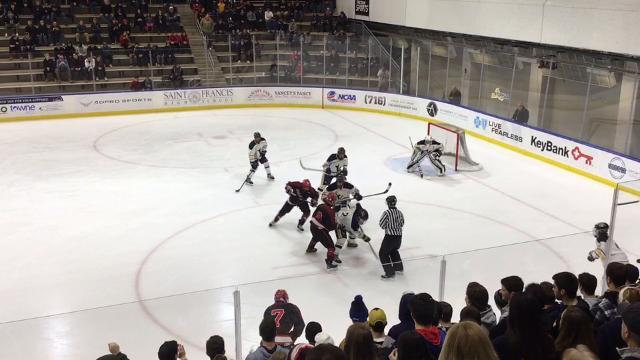 The Blue Devils defeated Niagara-Wheatfield 5-1 Sunday at HarborCenter in Buffalo. (March 11, 2018)